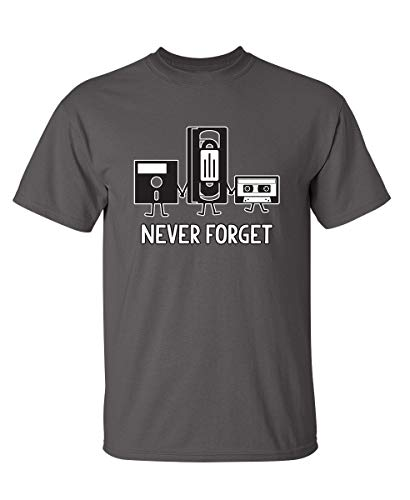 Never Forget Graphic Novelty Sarcastic Funny T Shirt M Charcoal