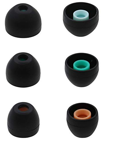 JNSA Hybrid Silicone Earbuds Ear Buds Tips for Sony XBA, MDR and DR Series...
