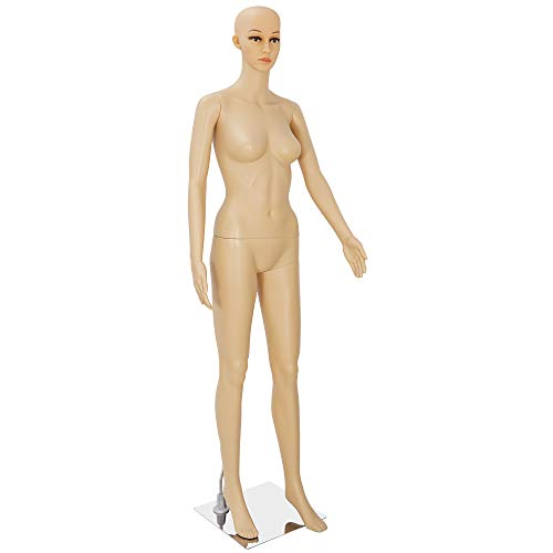 68.9' Female Full Body Realistic Mannequin Head Turns Dress Form Display...