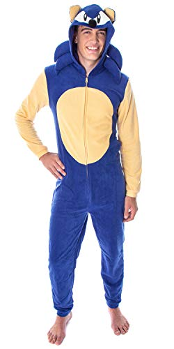 Sonic The Hedgehog Men's Video Game Character Costume One-Piece Union Suit...