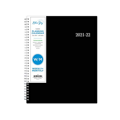 Blue Sky 2021-2022 Academic Year Weekly & Monthly Planner, 8.5' x 11',...