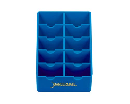 BarberMate Blade Rack Storage Tray - Holds 10 Clipper Blades (Blue)