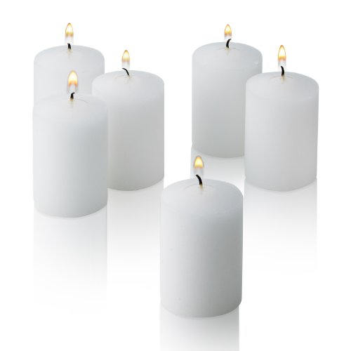 Light In The Dark White Votive Candles - Box of 36 Unscented Bulk Candles -...
