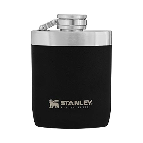 Stanley Master Hip Flask 8oz with Integrated Steel Cap, Wide Mouth 1.0mm...