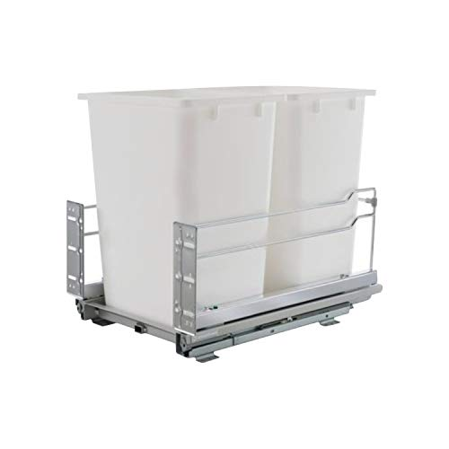 Rok Kitchen Cabinet Smooth Soft Close Double 36 Qt. Heavy Duty Waste...