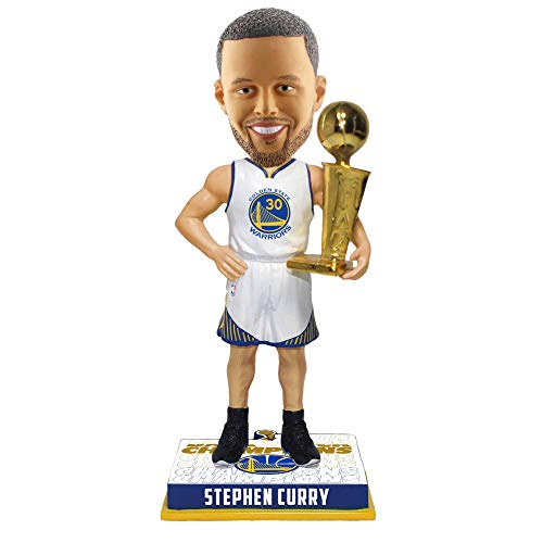 FOCO Stephen Curry Golden State Warriors 2018 NBA Champions BOBBLEHEAD with...