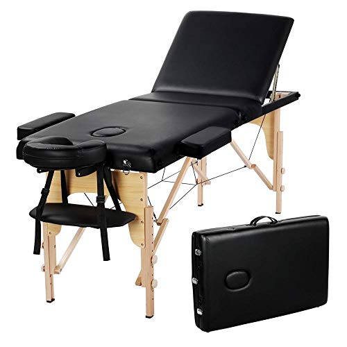Yaheetech Massage Table Portable Massage Bed Massage Therapy Table Spa Bed...