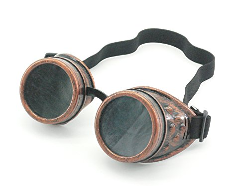 Sepia Cyber Goggles Steampunk Welding Goth Cosplay Vintage Goggles Rustic...