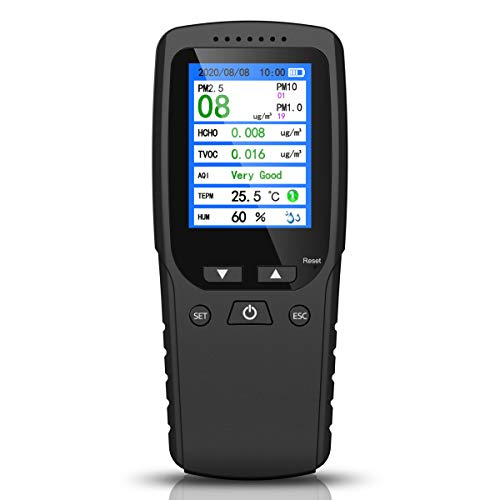 Air Quality Monitor, Formaldehyde Detector, Temperature & Humidity Meter,...