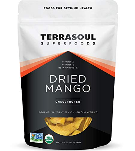 Terrasoul Superfoods Organic Dried Mango Slices, 16 Oz - Naturally Sweet &...
