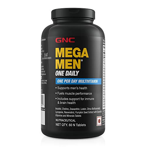 GNC Mega Men One Daily Multivitamin for Men, 60 Count, Take One A Day for...