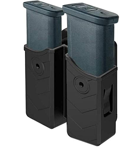HQDA Universal Double Magazine Pouch 9mm .40 Mag Holder Dual Stack Mag...