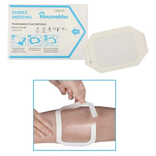 Houseables Transparent Film Dressing, Wound Cover Bandages, Clear, 4' x...