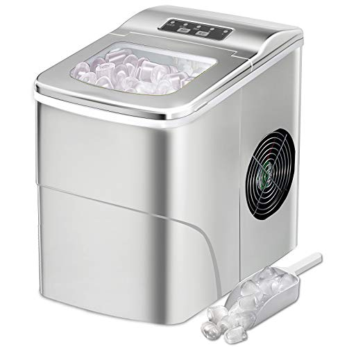 AGLUCKY Counter top Ice Maker Machine,Compact Automatic Ice Maker,9 Cubes...