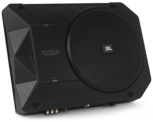 JBL BassPro SL 8-inch 125W RMS Powered Under-Seat Compact Subwoofer...