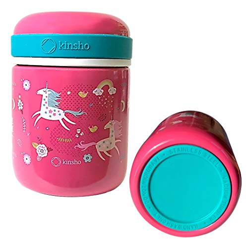 Kids Thermos for Hot Food Soup Lunch, Insulated Stainless Steel Wide Mouth...