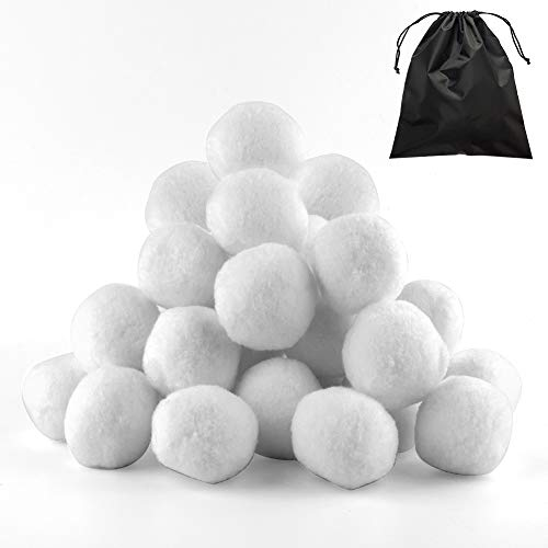 WXJ13 25 Pack Snowball Indoor Snowball Fight Fake Snowball with Bag for...