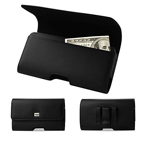 Horizontal Executive Leather Cash and Credit Card Case with Magnetic...