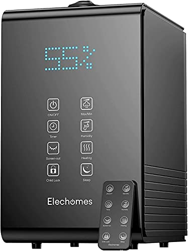 Elechomes SH8820 Humidifier, 5.5L Top Fill Warm and Cool Mist Humidifiers...