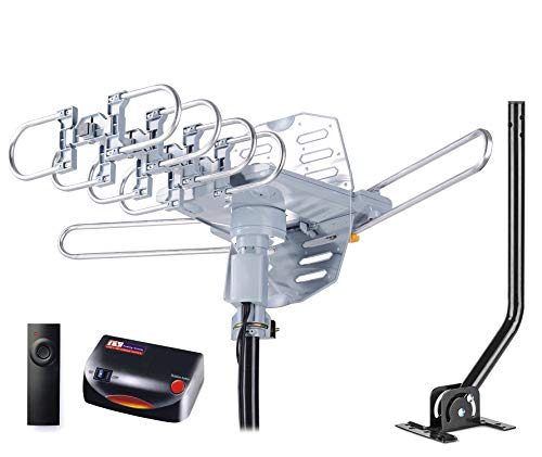 PBD WA-2608 Digital Amplified Outdoor HD TV Antenna with Mounting Pole & 40...