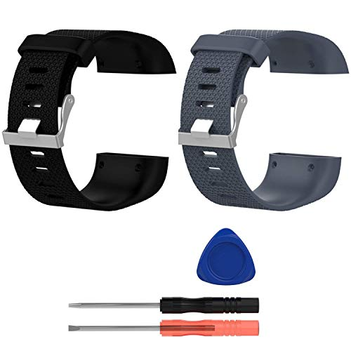 E ECSEM Replacement Bands Compatible with Fitbit Surge, Large, Silicone...