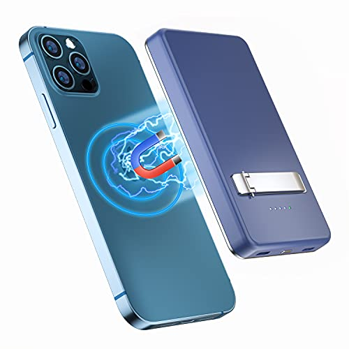 Magnetic Wireless Charger Power Bank, TTWEN 15W Magnetic Portable Fast...