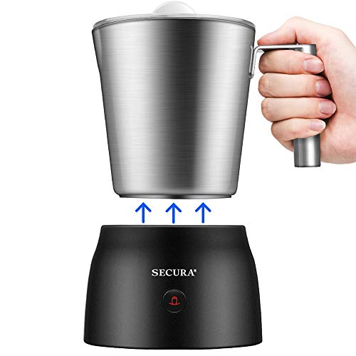 Secura Detachable Milk Frother, 17oz Electric Milk Steamer Stainless Steel,...