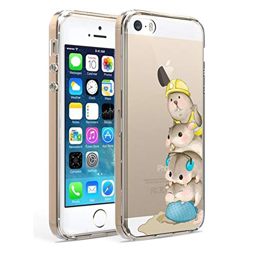Ftonglogy Cute Cartoon Mouse Animal Clear Flexible TPU [5ft Drop Proof]...