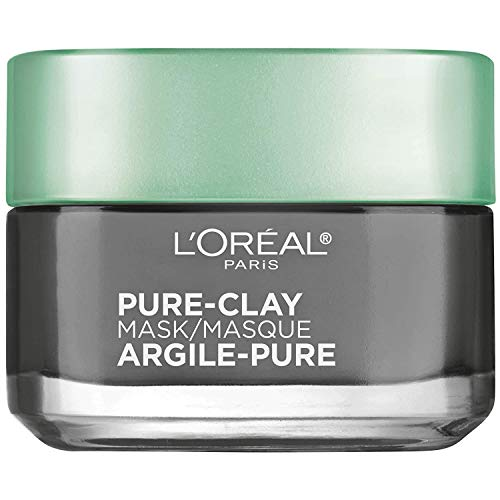 L'Oreal Paris Skincare Pure Clay Face Mask with Charcoal for Dull Skin to...