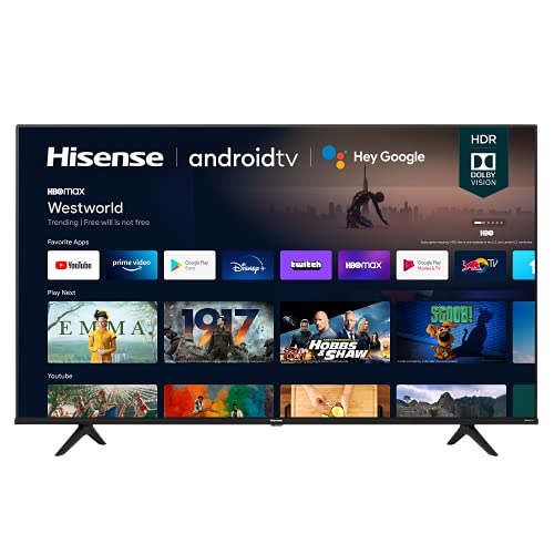 Hisense 55A6G 55-Inch 4K Ultra HD Android Smart TV with Alexa Compatibility...