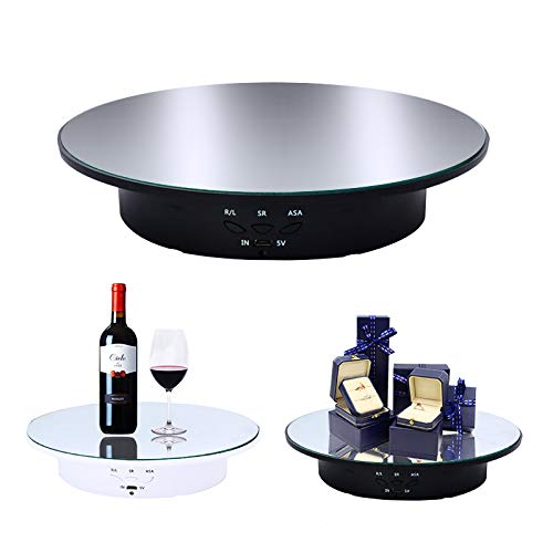 JAYEGT Motorized Rotating Display Stand, 20CM /Load 8KG, 360 Degree...