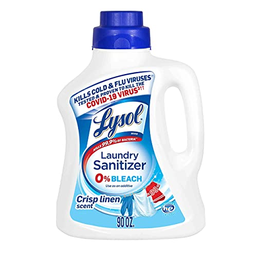 Lysol Laundry Sanitizer Additive, Crisp Linen, 90oz, Packaging May Vary