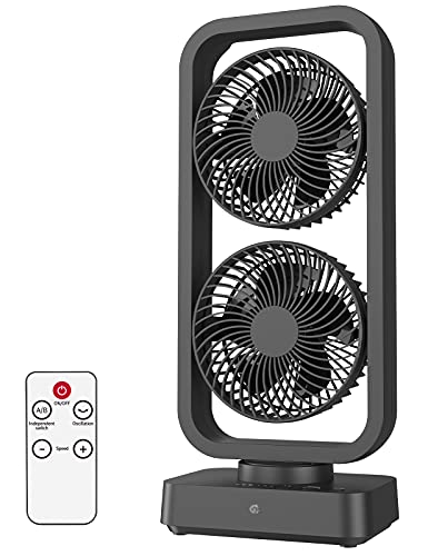 10000mAh Battery Operated Oscillating Fan with Remote, 16Inch Cordless...