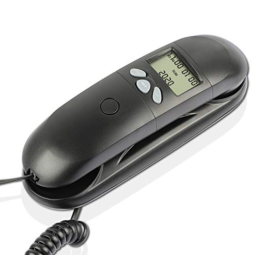 Corded Telephone with Caller ID, Easy to Operate, Wall-Mountable, One Key...