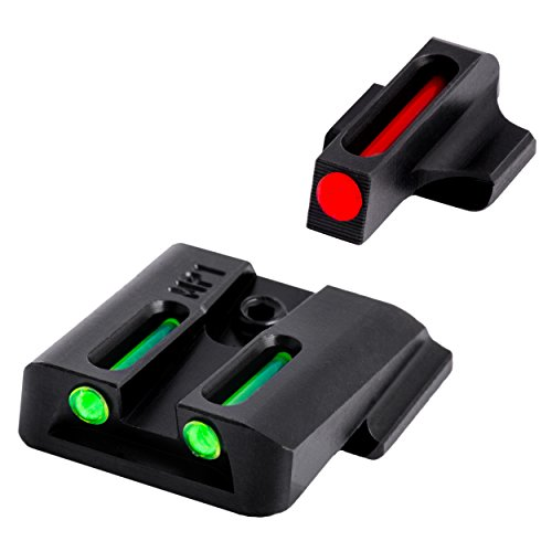 Truglo Fiber-Optic Front and Rear Handgun Sights for Smith & Wesson...