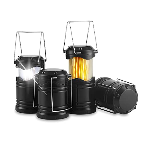 Lichamp 4 Pack LED Camping Lanterns, Battery Powered Camping Lights Super...