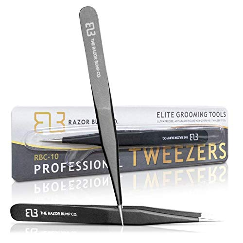 Tweezers For Ingrown Hair By The Razor Bump Co. | Sharp, Stainless Steel,...