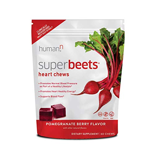 HumanN SuperBeets Heart Chews | Grape Seed Extract and Non-GMO Beet Powder...
