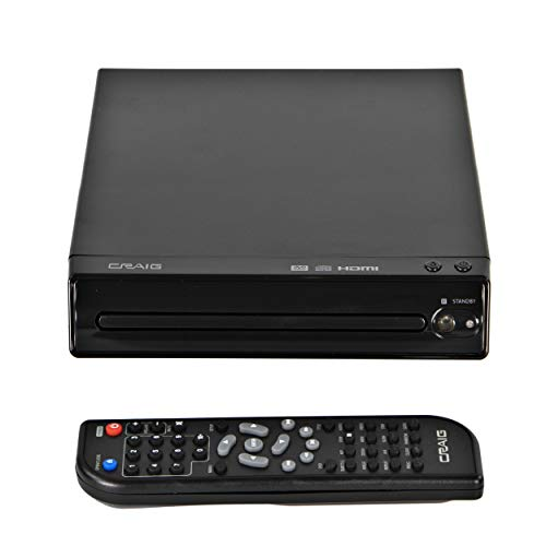 Craig CVD401A Compact HDMI DVD Player with Remote in Black   Compatible...