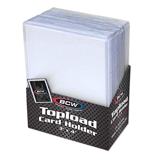 BCW 3' x 4' Topload Card Holder for Standard Trading Cards   Up to 20 pts  ...