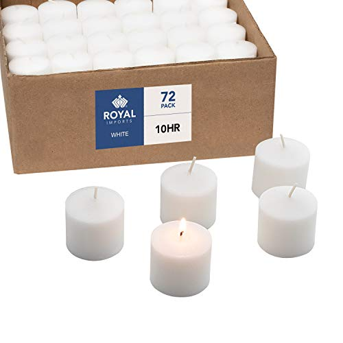 Votive Candle, Unscented White Wax, Box of 72, for Wedding, Birthday,...