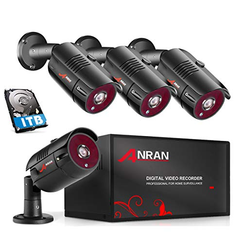 ANRAN 4 Channel 1080P Home Security Camera System 4ch CCTV DVR Recorder...