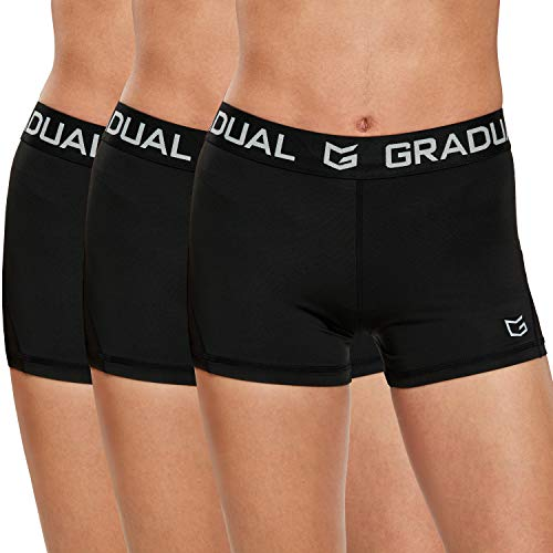Women's Spandex Compression Volleyball Shorts 3' /7' Workout Pro Shorts for...