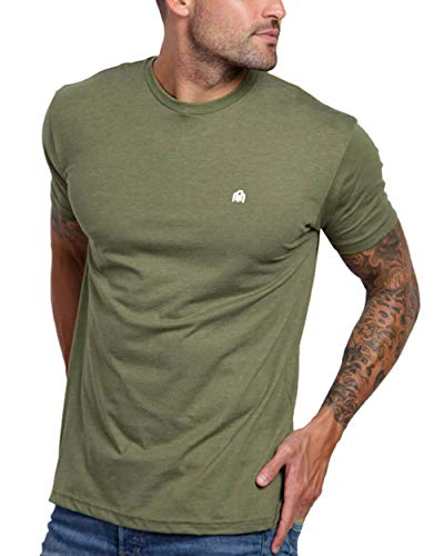 INTO THE AM Men's Fitted Crew Neck Basic Tees - Premium Modern Fit Short...
