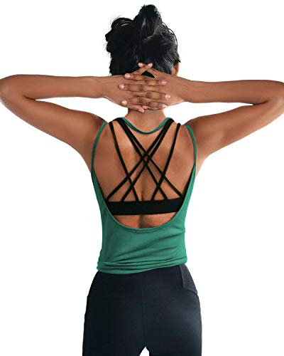 OYANUS Womens Summer Workout Tops Sexy Backless Yoga Shirts Loose Open Back...