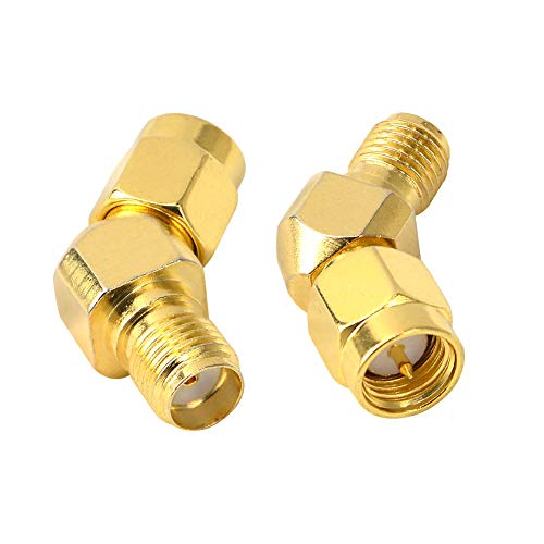 SMA Male Coax Adapter SMA Male to Female Antenna FPV Adapter for FPV Race...