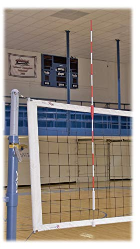 Tandem Sport Official Red & White Volleyball Clamp-On Net Antennas, 1 Pair,...