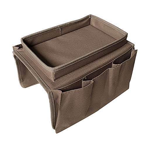 ITODAUS Sofa Armrest Organizer Couch Storage Bag with Cup Holder Tray 6...