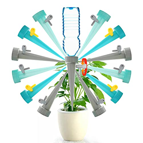 QQCherry Self Watering Spikes,Slow Release Control Valve Switch Automatic...