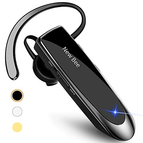 New bee Bluetooth Earpiece V5.0 Wireless Handsfree Headset with Microphone...
